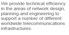 about how we can help your telecommunications effort